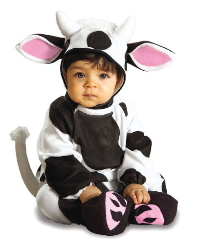 Rubie's Costume EZ-On Romper Costume, Cozy Cow, 6-12 Months