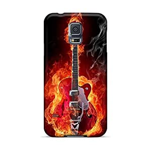 Scratch Protection Hard Phone Cases For Samsung Galaxy S5 (LUW2678GHYv) Customized Lifelike Metallica Pattern