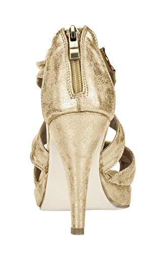 Andrea Conti - Sandalias de vestir para mujer Dorado dorado Dorado - dorado
