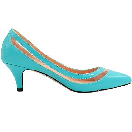 MERUMOTE - Zapatos de tacón fino Mujer Azul - Blau-Lackleder