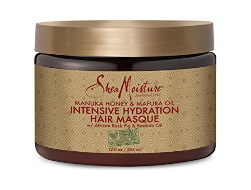SheaMoisture Manuka Honey &Mafura Oil Intensive Hydration Treatment Masque Packet| 12 fl. oz. (Moisture Mask Intense)