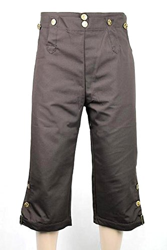Pirate Choice Pants Breeches for Jack Sparrow Costume (L, -