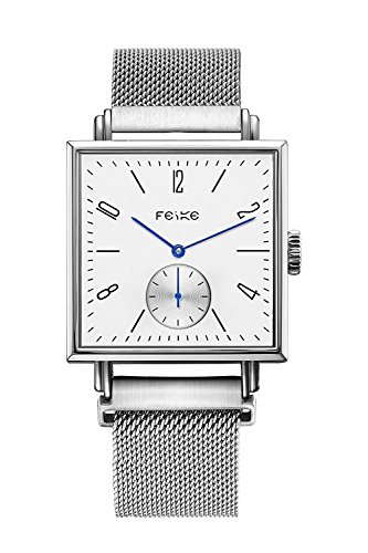 FEICE Casual Men's Automatic Mechanical Watch with Synthetic Sapphire #FM301(Sliver) by FEICE