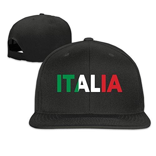 Hip Hop Italian (Safan532 Unisex Italia Italy Italian Flag Cotton Snapback Hip Hop Flat Tongue Hats Adjustable Baseball Caps For Outdoor Sport)