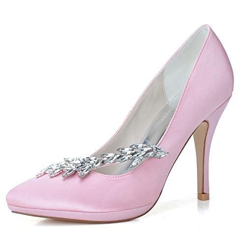 Hx 0255 Scarpe Da A Alla Punta Alti Sposa Seta L yc Pink Donna Tacchi Di 19 Moda x5YfqXwFw
