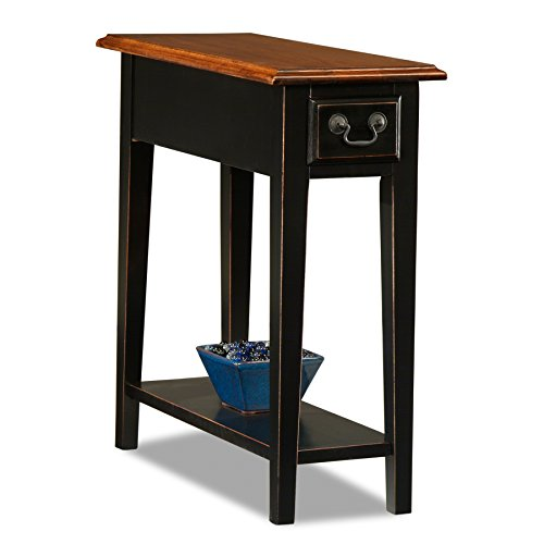 Leick Chair Side End Table, Slate Finish