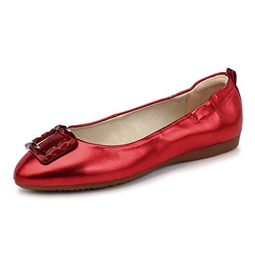 Zapatos de moda/Zapatos de tacón plano/Rollo de huevo dulce cómodo zapatos/Zapatos de arco E