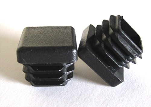 10 Pack: 3/4 Inch Square Plastic Plug, Tubing End Cap, Durable Chair Glide Heavy Duty Steel Tubing