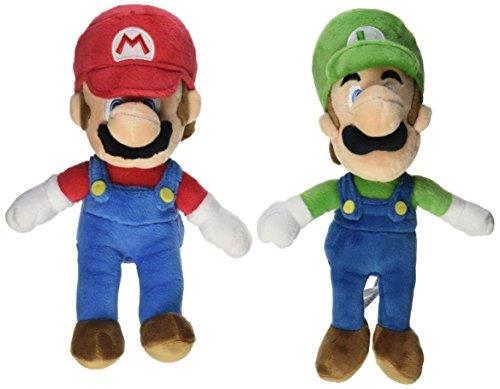 "Little Buddy Mario Plush Doll Set of 2 - 8"" Mario and Luigi"