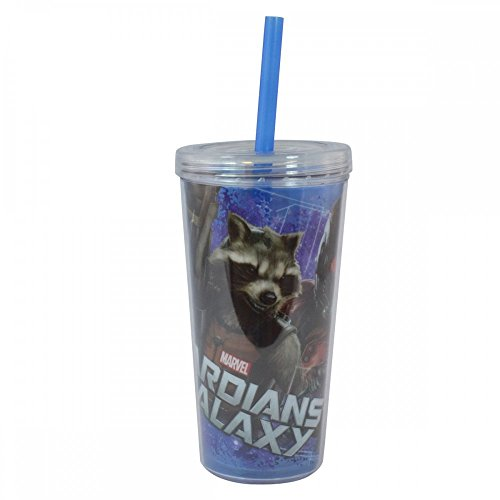 Zak! Designs Guardians of The Galaxy Double Wall Tumbler, 16-Ounce