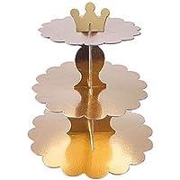Rose Gold Karton Cupcake Standı 3 Katlı 1 Adet