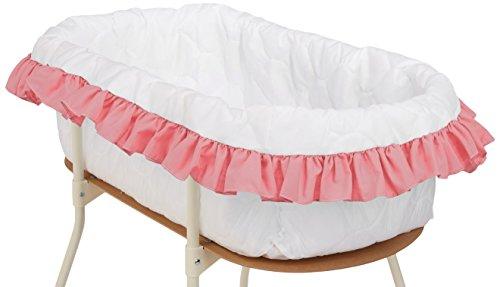 bkb Solid Color Bassinet Bumper, Pink, Large
