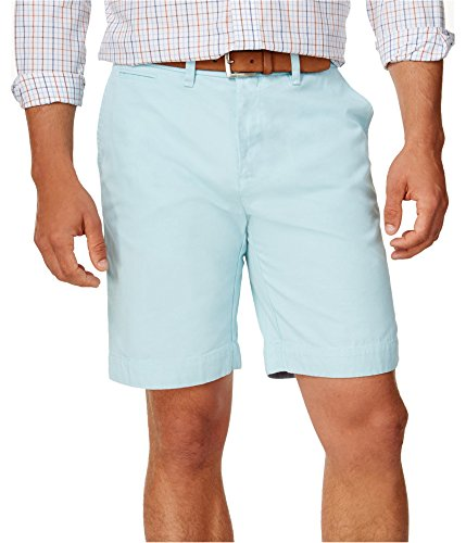 Tommy Hilfiger Mens Classic Casual Chino Shorts, Blue, 30 ()