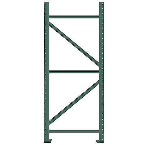 Pallet Rack Uprights- Teardrop- 96'' x 42'' (BLUE)