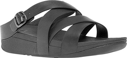Fitflop The Skinny Sandalo Con Scivoli Incrociati 2017 All Black Schwarz