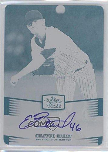 Eddie Butler #1/1 (Baseball Card) 2012 Leaf Metal Draft - [Base] - Printing Plate Black #BA-EB1