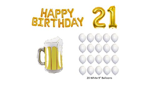 (The Happy 21st Birthday Beer Mug Balloon Kit )