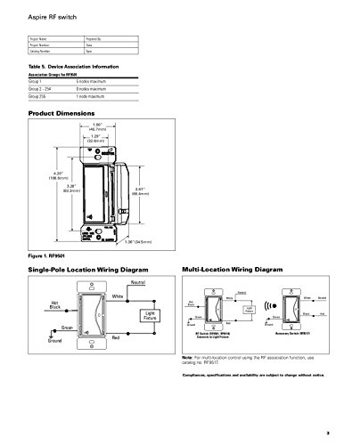 eaton rf9540 nws aspire single pole multi location master dimmer rh amazon com Lutron Dimmer Wiring-Diagram Lutron Dimmer Wiring-Diagram