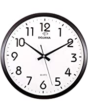 Dojana Wall Clock, DWG081-gold-white