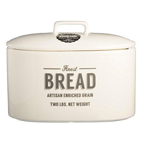 Mason Cash Baker Lane Ceramic Bread Crock, 240-Fluid Ounces, Cream,