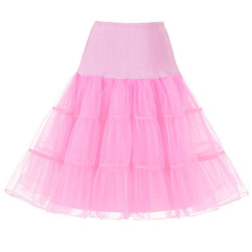 SlenyuBridal Women's Vintage 50s Rockabilly Petticoat Tutu Skirt 26