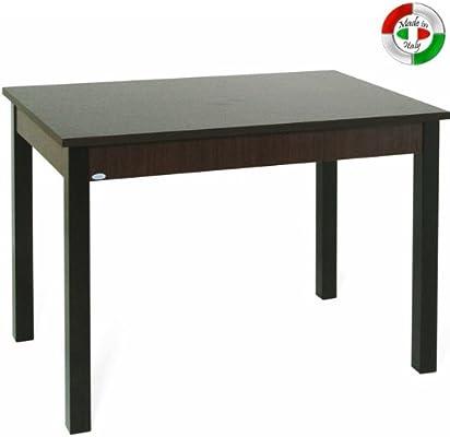 Totalmente mesa de comedor extensible madera 70 cm x 110/150 wenge ...