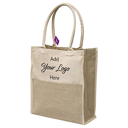 AJK Gifts Catalina Linen Tote / 30-Pieces/Promotional Product with Your Logo/Customized #SDPQH-MSCYV