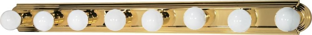 Nuvo Gothamシャンデリア 60/311 1 B002OMFRKK Polished Brass / Alabaster Glass|8Lt バニティーストラップ Polished Brass / Alabaster Glass