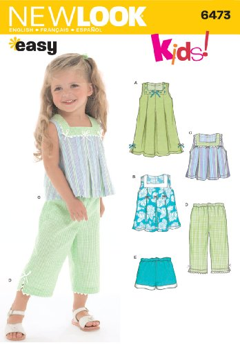 3 Sewing Patterns - New Look Sewing Pattern 6473 Toddler Separates, Size A (1/2-1-2-3-4)