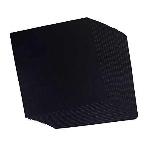 SICOHOME Scrapbook Refill Pages,15 Sheets,Black,10x10.2 Inch ()