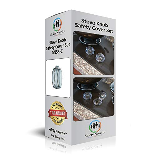 Safety-Novelty Child-Proof Stove Knob Covers - Small 2019 Upgraded Heat Resistant Model | Please Measure Your Knob First | Baby & Kids Kitchen Design | Easy Set-up Clear View by Safety Novelty (Image #3)