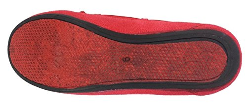 Elegant Womens Casual Faux Suede Red Moccasin Loafers Red lWTES