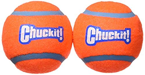 Chuckit! Tennis Ball Bouncing and Floating Dog Ball Orange/Blue 4 Sizes