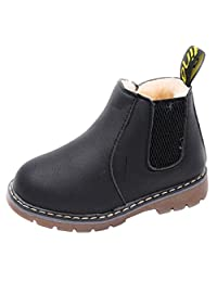 DADAWEN Baby's Boy's Girl's Casual Waterproof Side Zipper Ankle Boots (Toddler/Little Kid/Big Kid)