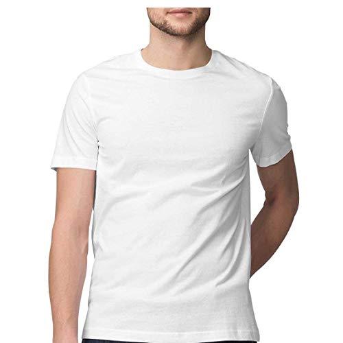 Round Neck White T Shirt for Men