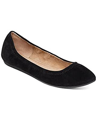 BCBGeneration Women's Nassau Pointed Toe Flat,Black Suede,US 8.5 M