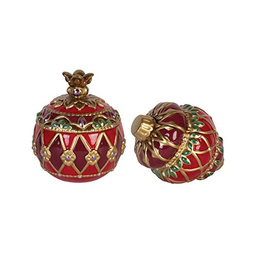 Fitz and Floyd Renaissance Holiday Lidded Box, Set of ()