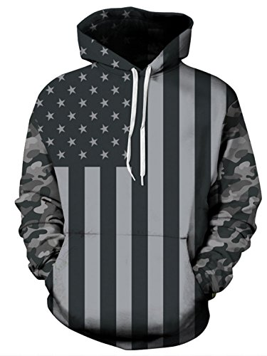 American Flag Hooded Sweatshirt - 2