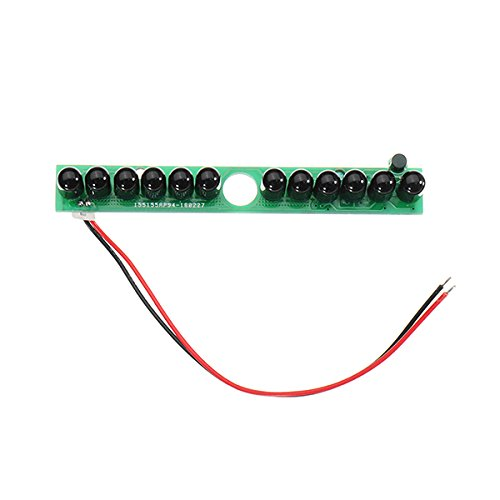 12 Pieces IR LEDs Infrared Illuminator Board Invisible No Red Light 940nm 60 Degree LED Lamp for Camera ILS