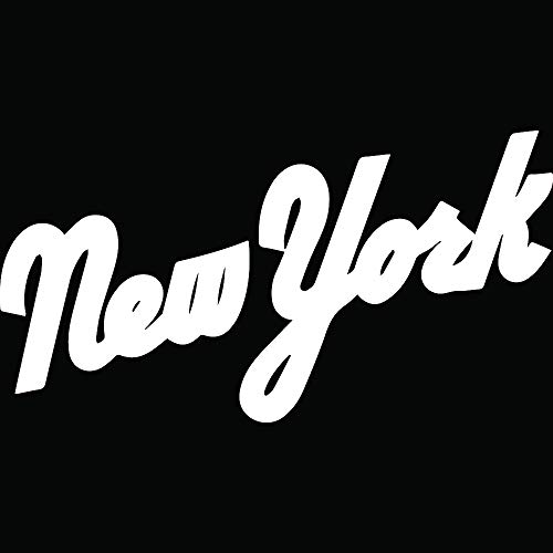 ANGDEST NY New York Mets (White) (Set of 2) Premium Waterproof Vinyl Decal Stickers for Laptop Phone Accessory Helmet Car Window Bumper Mug Tuber Cup Door Wall Decoration ()
