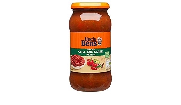 Amazon.com : Uncle Bens Chilli Con Carne Medium Sauce - 450g : Grocery & Gourmet Food