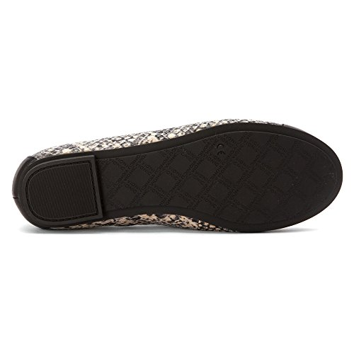 con Orthaheel Technology Minna Ballet Flat femminile, Natural Snake, US 8.5