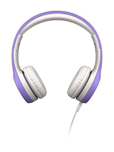 LilGadgets Connect+ Premium Volume Limited Wired Headphones with SharePort for Children - Purple (Lilgadgets On The Ear Headphones With Connect)