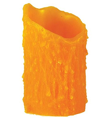 Meyda Tiffany 102574 Poly Resin Honey Amber Uneven Top Candle Cover, 3'' W x 5'' H