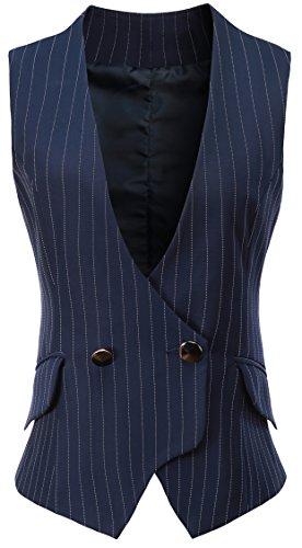 Vocni Women V-Neck Lined Slim Fit Waistcoat Dreesy Suit Vest