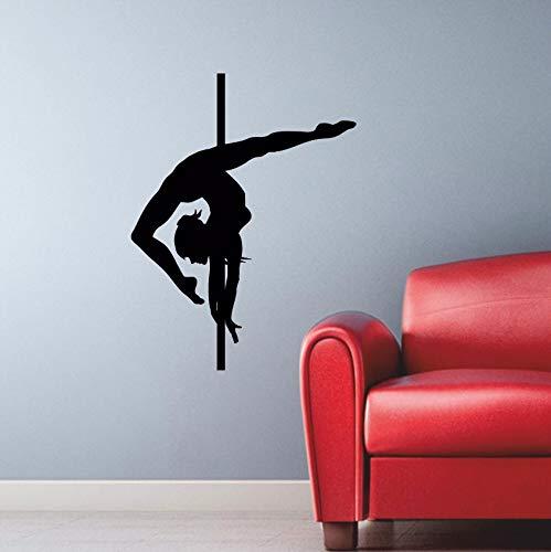 Halloween Strip Tease (Pbldb 43X57Cm Wall Stickers Dance Pole Dancing Striptease Decor Vinyl Stickers Gym Home Decor Interior Design)