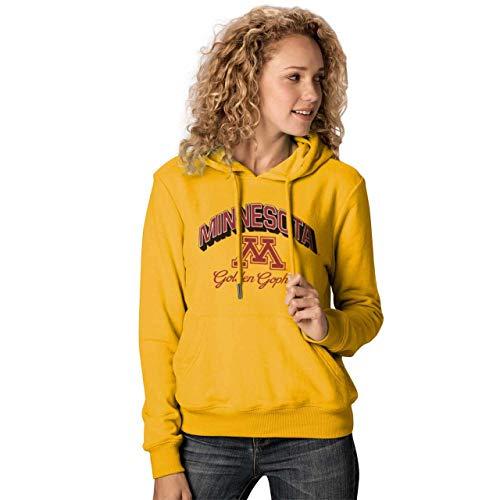 Minnesota Golden Gophers Womens Premium Campus Classic Goodie Hoodie - Gold, Womens Small ()
