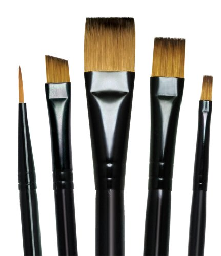 Majestic Royal and Langnickel Short Handle Paint Brush Set,