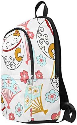 InterestPrint Kitty Cute Custom Casual Travel Laptop Backpack Bookbag Daypack