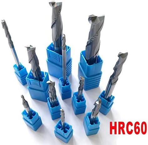 GENERICS LSB-Werkzeuge, 2mm 3mm 4mm 5mm 6mm 8mm 10mm 12mm 2 Flöten HRC60 Wolframcarbid Flache Vierkantfräser Spiralbohrer CNC-Schaftfräser (Cutting Edge Diameter : 003MM)